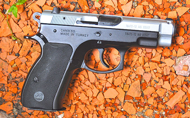 The C-100 is imported from Turkey by TriStar, and is an inexpensive clone of the CZ-75 Compact with a lightweight frame.