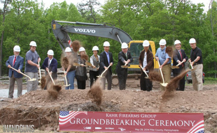Kahr Arms officially broke ground on their new headquarters in Blooming Grove Township, in Pike