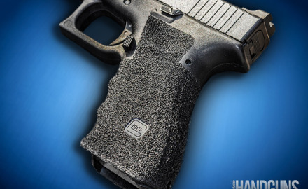Stippling the gripping surface of polymer-framed guns is usually done with a soldering iron.