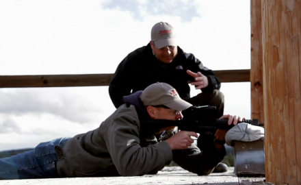 Richard Nance and James Tarr discuss and demonstrate ways of shooting rifles in a variety of