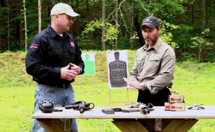 Richard Nance talks with Special Missions Unit Member, Craig Palmer about using a carbine rifle in