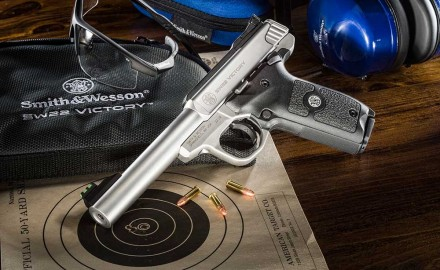 Smith & Wesson Corp. announced the introduction of the company's next generation target pistol with the unveiling of the SW22 Victory.
