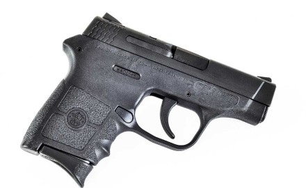 The Smith & Wesson M&P Bodyguard 380 is one of the most popular .380 pocket autos on the market today. We reviewed this small semiauto here.