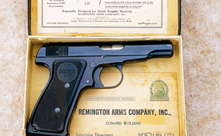 In 1913 John D. Pedersen began working on a new autoloading pocket pistol. He filed for a basic
