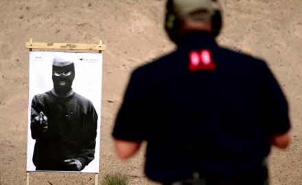 Richard Nance demonstrates the importance of shot placement in defensive pistol shooting.