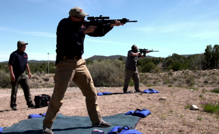 J. Scott Rupp, Richard Nance and James Tarr compete in 300-yard shootoff.