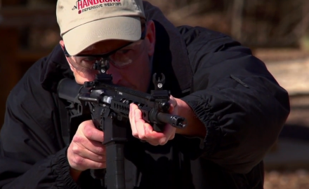 James Tarr highlights the features of the Ruger SR-556 Takedown rifle and kit.