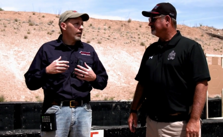 Pro shooter Rob Leatham and James Tarr discuss the differences between IDPA and USPSA shooting