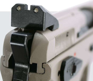 For guns that cost less than $1,000, the Urban Grey line delivers value via tritium night sights and a on some a swappable decocker/safety lever that's easy to install.