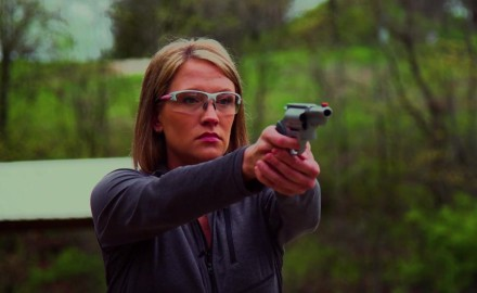 Jessica Nyberg is at the range working on what she considers to be her most problematic area,