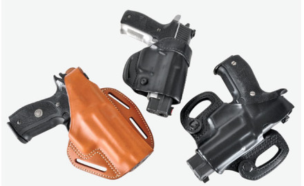 Now Blackhawk has gone old school and introduced a new line of leather holsters in its CQC holster line.