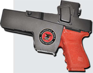 The steel Handgun Holster from Jotto Gear can be mounted just about anywhere from a bedroom to a vehicle.