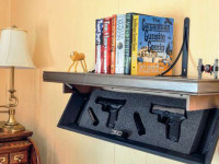 The Browning Home 12 is an example of smaller safes with plenty of space and protection to store many if not all of your handguns. It weighs 395 pounds.