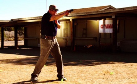 Richard Nance demonstrates training techniques to improve your one-handed shooting skills.