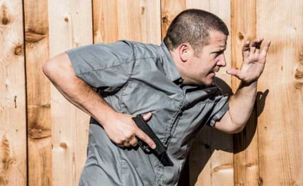 In this article, Richard Nance examines multiple shooting positions for when an assailant is close enough to reach your gun and you can't use your sights.