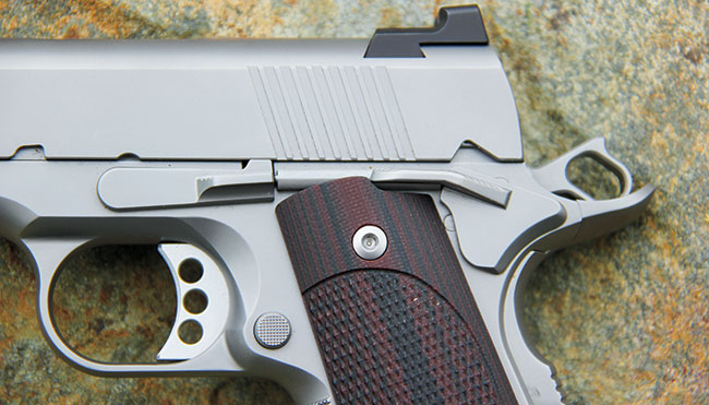 Ed Brown makes all its own parts (except grips and springs), and the extended, narrow safety and beavertail design are user-friendly additions to the standard 1911 layout.
