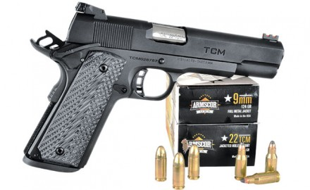 Rock Island Armory's combo 1911 packs 9mm/.22 TCM  power into one cool pistol.