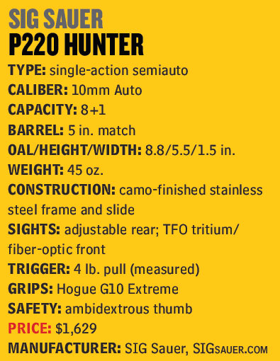 SIG-Sauer-P220-Hunter-10mm-Auto-Specs