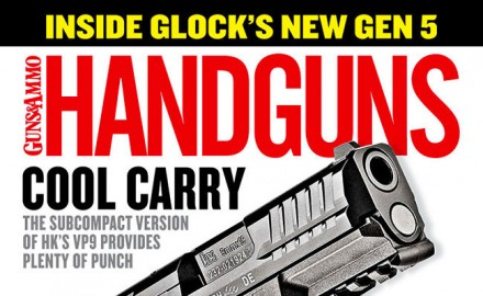 Check out the latest issue of Handguns to get the latest news from the firearms industry.