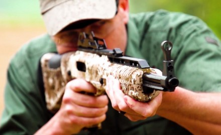 James Tarr highlights the features of Hi-Point's 995 pistol caliber carbine.