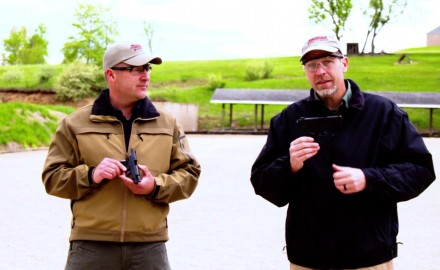 Richard Nance and James Tarr debate the merits of subcompact vs. compact pistols.