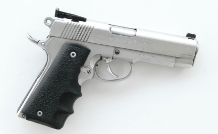 A novel piece of firearms engineering that turned the 1911 into a double-action/single-action pistol.