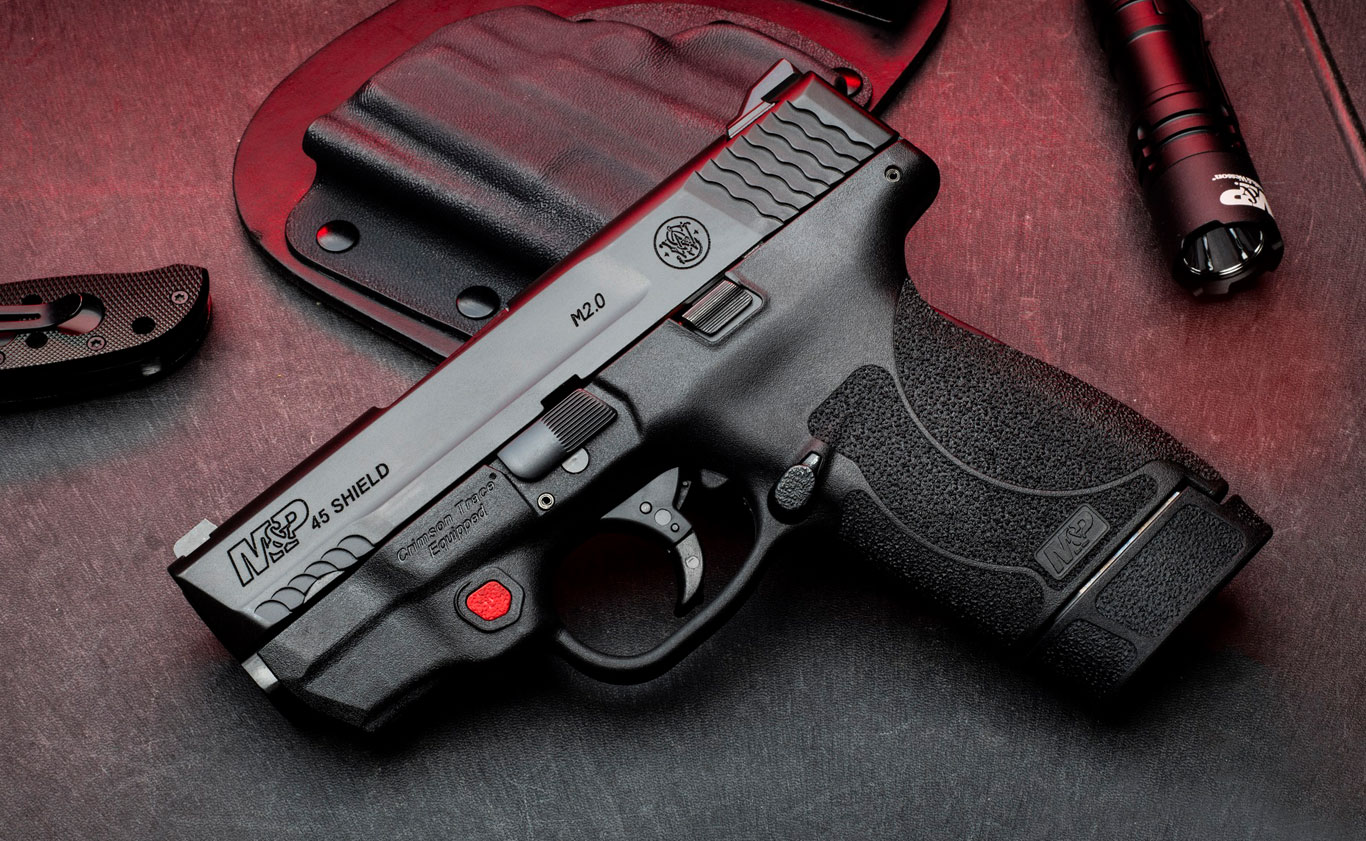 M&P Shield M2.0 with Integrated Crimson Trace Laser Now Available in .45 Auto