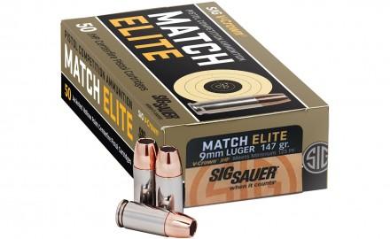 SIG SAUER Match Elite pistol competition ammunition
