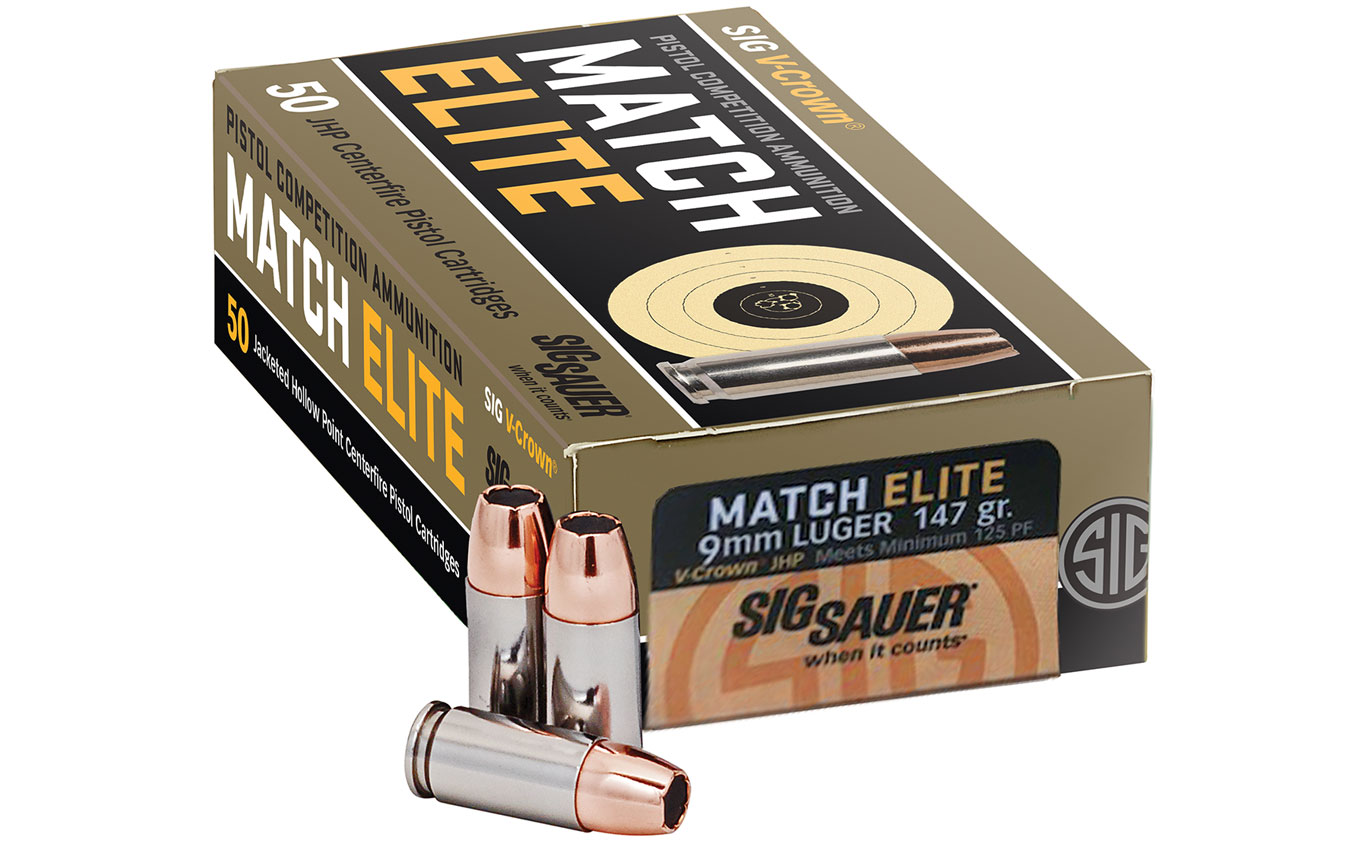 SIG SAUER Match Elite pistol competition ammunition