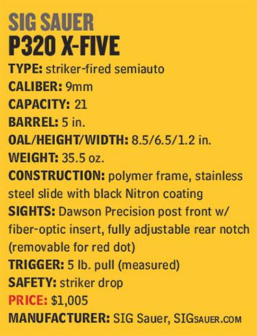 SIG-Sauer-P-320-X-Five-Specs