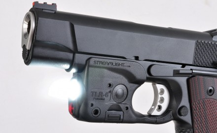 The Streamlight TLR-6 is a combination light/laser designed to fit dozens of compact and subcompact handguns, including 1911s without frame rails.