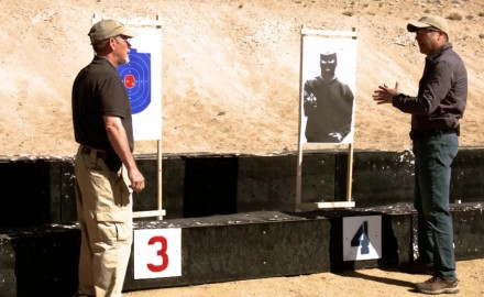 Scott Rupp and Richard Nance discuss the value of different shooting targets.
