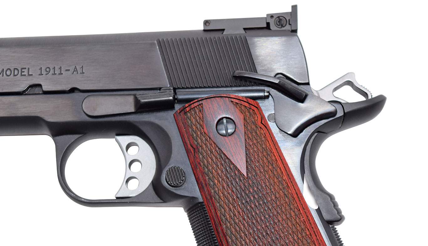 The Basic Limited features classic 1911 controls, but Rock River takes things one step further by offering short, medium, long and extra-long trigger options.