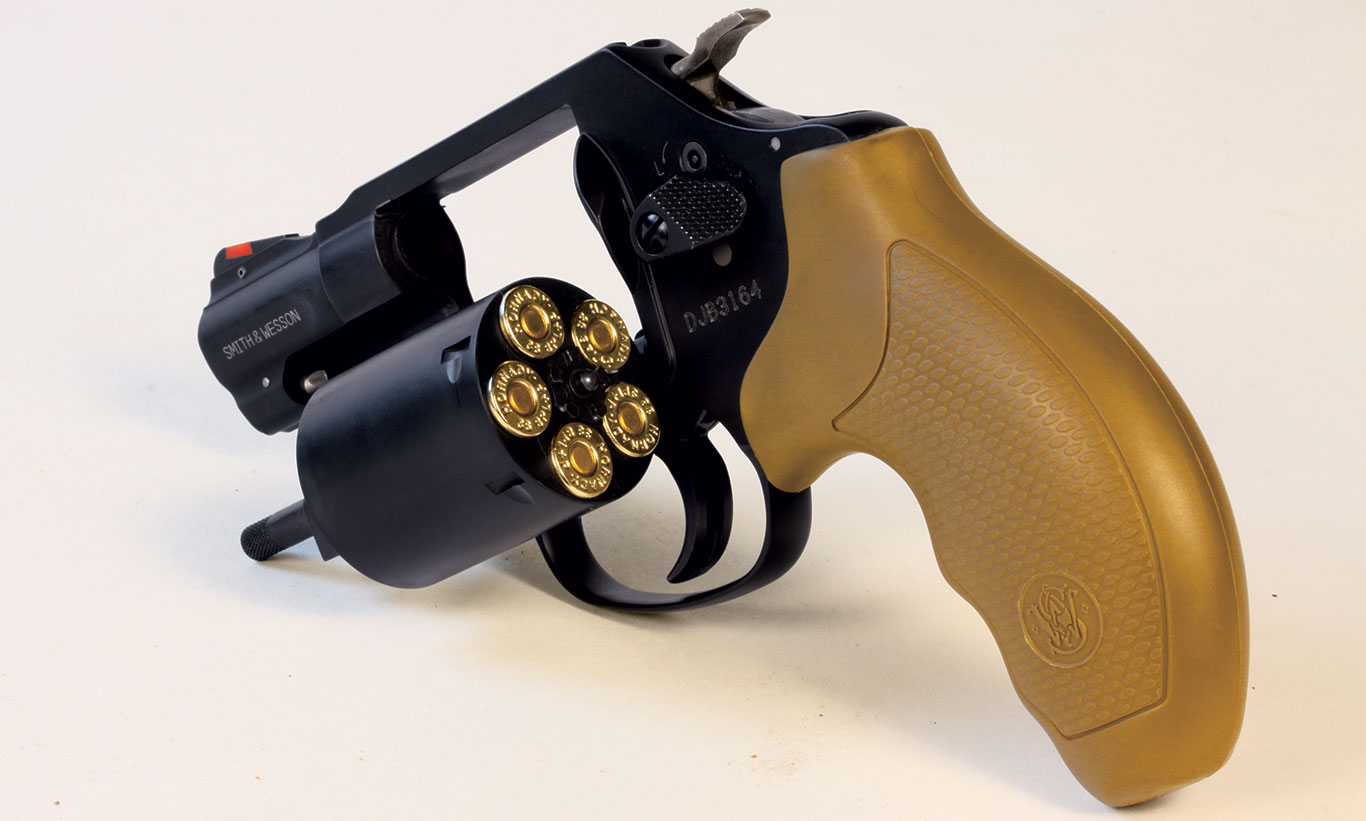 The 360 Airweight puts five rounds of .357 Magnum at your disposal, although the revolver is, of course, way more manageable with .38 +P or standard .38 loads.