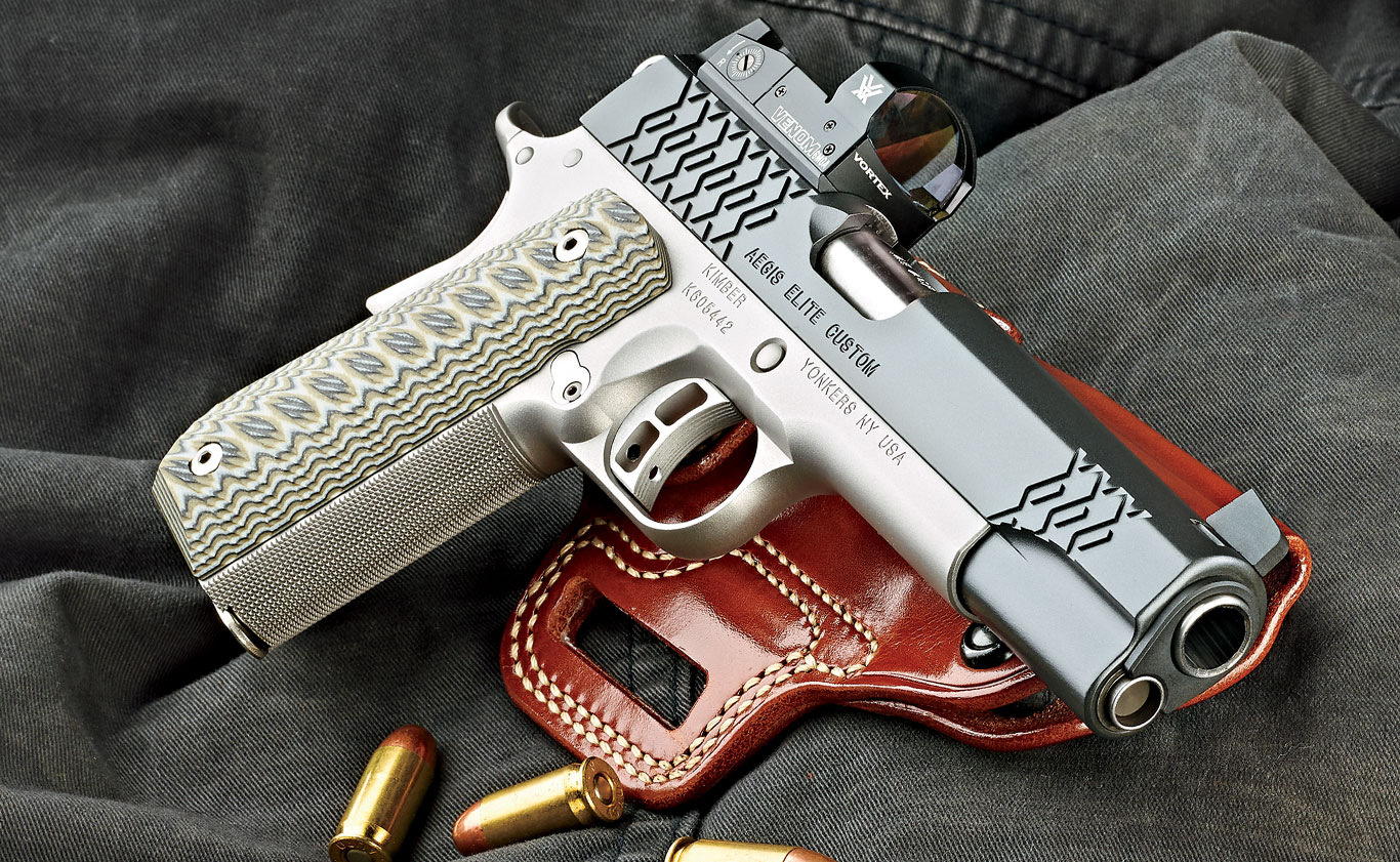 Kimber's new Aegis Elite Custom OI combines functionality, modern styling and a pre-mounted optic.