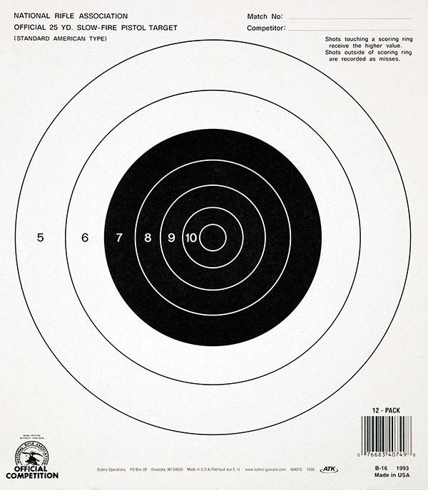 Champion NRA Bullseye Targets