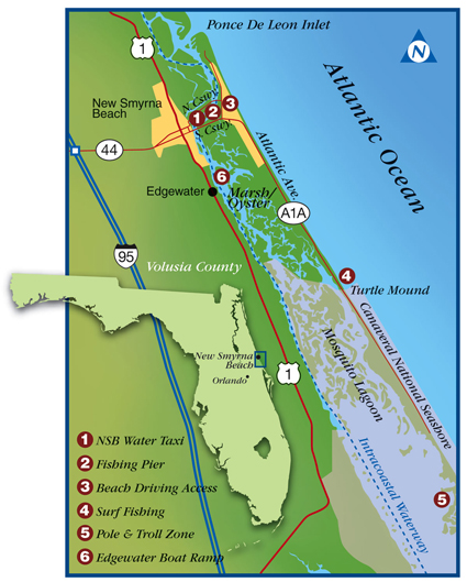 Mosquito Lagoon Fishing Map Pricing And Info