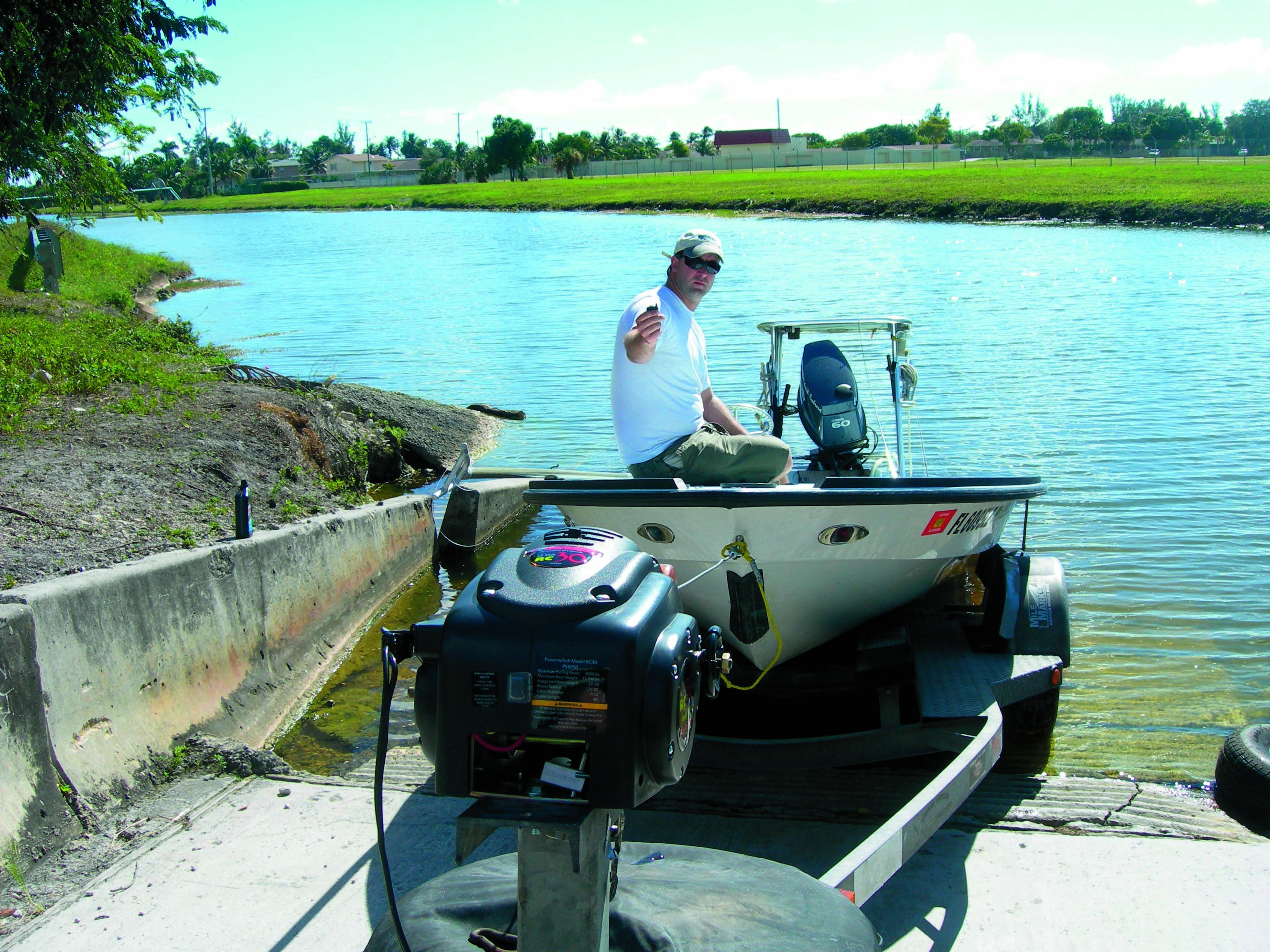 Boat Loading With A Winch Florida Sportsman Trailer Wiring Diagram