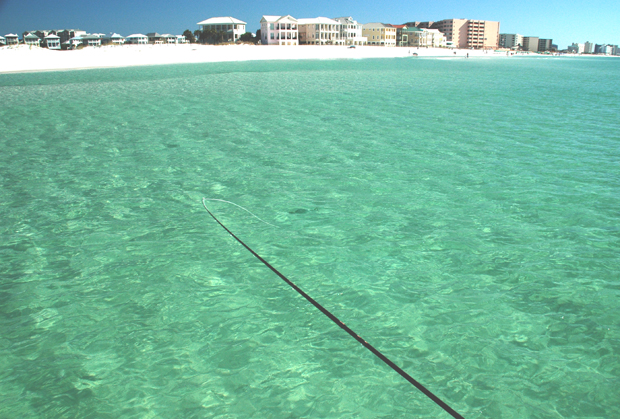 Surf fly fishing in destin florida florida sportsman for Bay fishing destin fl