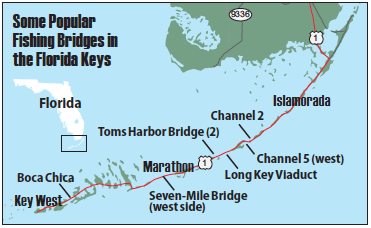 Map Of The Florida Keys.Bridge Fishing The Florida Keys Florida Sportsman