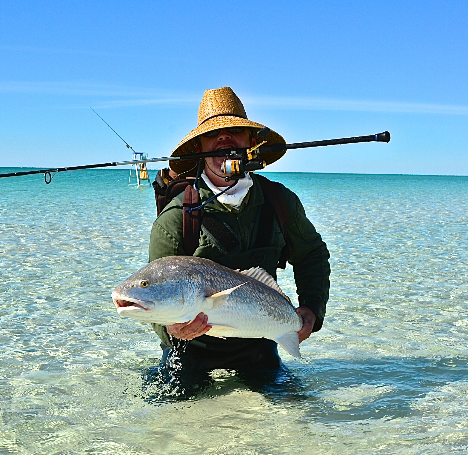 Bull reds on the beach florida sportsman for Surf fishing panama city beach