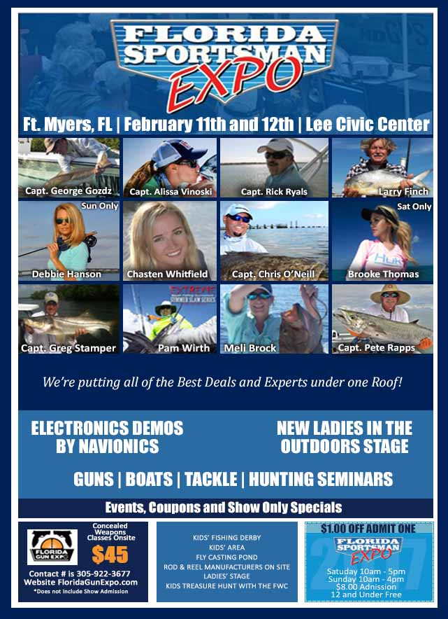 Fs fishing expo florida sportsman for Hunting and fishing expo