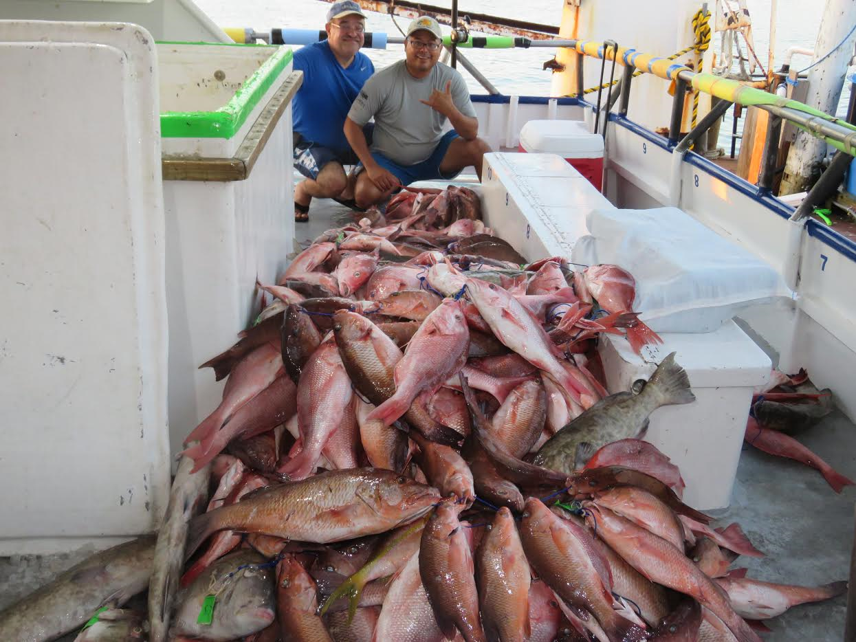 A recent big catch aboard one of the boats out of hubbard for John s pass fishing