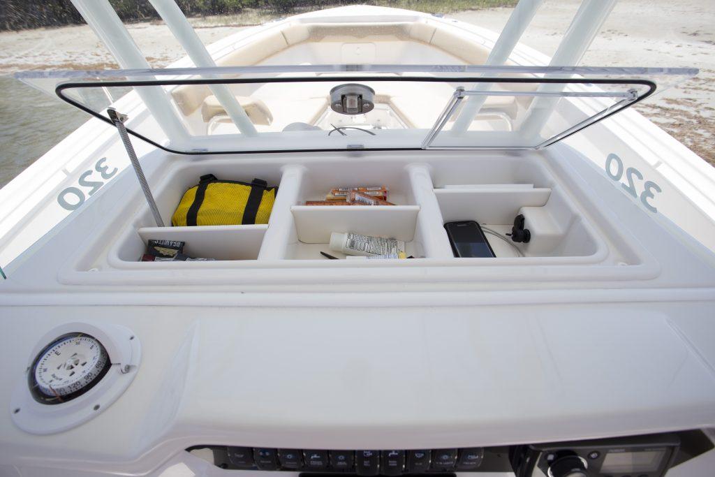 Sailfish 320CC Helm Storage Review