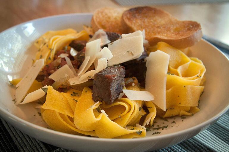 venison game pasta
