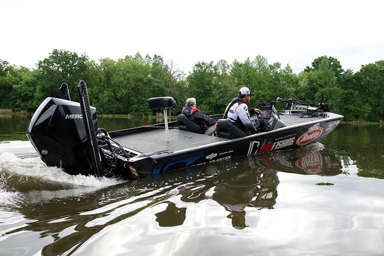 freshwater metal bass boat