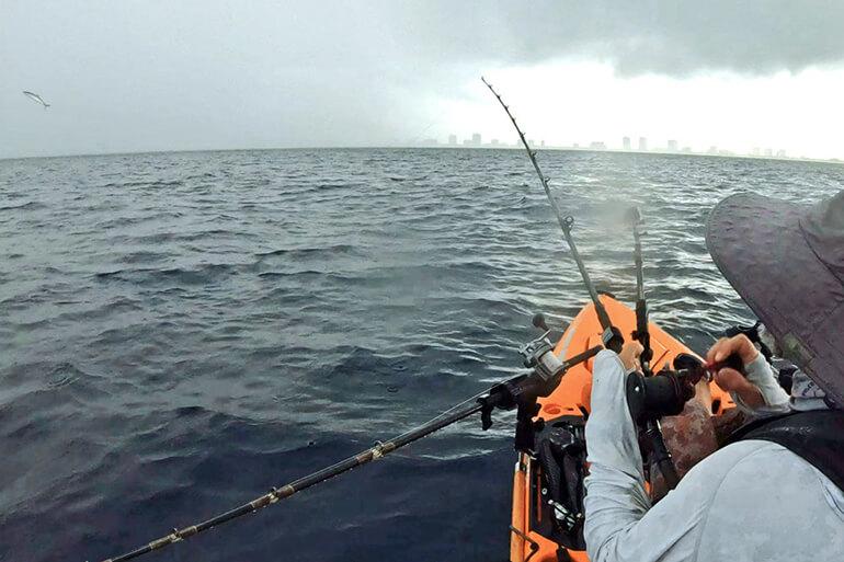 kayak king mackerel fishing