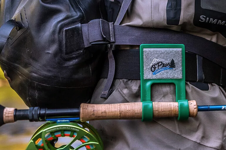 wearable fly rod holder