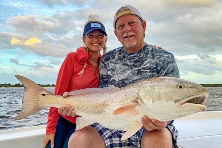 family redfish fishing