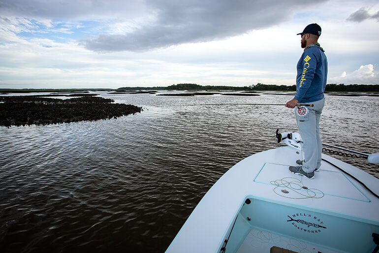 how to fish winter low tides